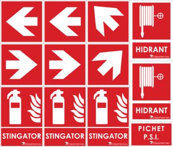 Set PSI XXL de 12 autocolante PVC obligatorii pentru firme si institutii