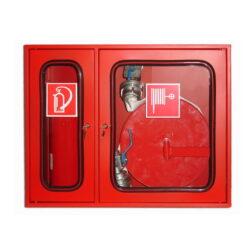 Cutie hidrant cu locas pentru stingator, geam, cheder, incuietoare, suport rola furtun