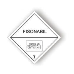 Eticheta ADR autocolanta pericol transport materiale fisibile