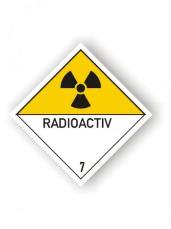Eticheta ADR autocolanta pericol transport materiale radioactive