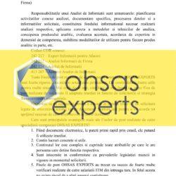 Fisa postului Analist de Informatii (relevant si pentru Analist Informatii de Firma)