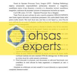 Fisa postului Operator Procesare Texte, Imagini (DTP – Desktop Publishing)