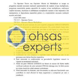 Fisa postului Operator Xerox/Operator Masini Multiplicat