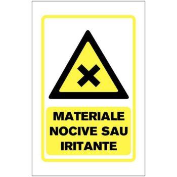 Materiale Nocive sau Iritante