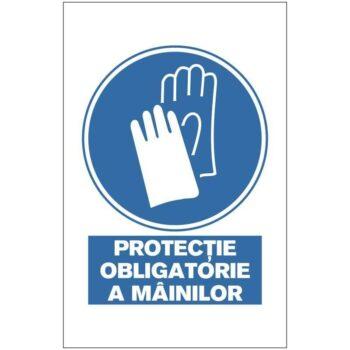 Indicator de obligativitate:Protectie obligatorie a mainilor