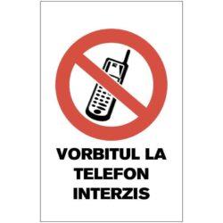 Indicator de interzicere: VORBITUL LA TELEFON INTERZIS