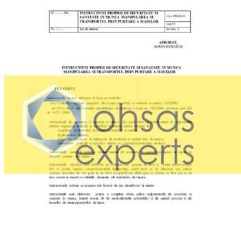 IPSSM-manipulare si transport prin purtare a maselor