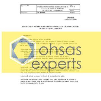 IPSSM pentru activitatea din farmacii