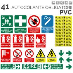TRUSA SANITARA PRIM AJUTOR DETASABILA + SET 40 AUTOCOLant E OBLIGATORII PVC
