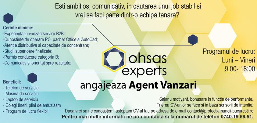 Agent vanzari Protectiamuncii-Bucuresti.ro