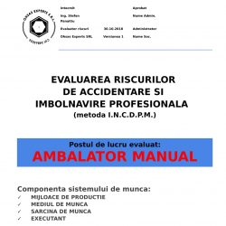 Evaluarea riscurilor de accidentare si imbolnavire profesionala Ambalator Manual