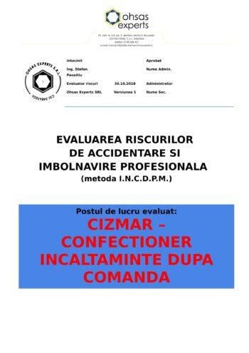 Evaluare riscuri SSM Cizmar – confectioner incaltaminte dupa comanda