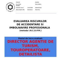 Evaluare riscuri SSM Director Agentie de Turism, Touroperatoare, Detailista