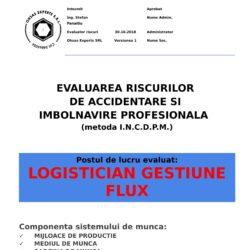 Evaluarea riscurilor de accidentare si imbolnavire profesionala Logistician Gestiune Flux