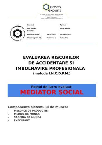 Evaluarea riscurilor de accidentare si imbolnavire profesionala Mediator Social