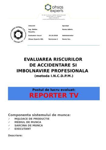 Evaluarea riscurilor de accidentare si imbolnavire profesionala Reporter TV